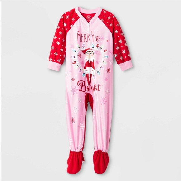 NWT Elf On The Shelf Cotton Sleep Christmas Pajamas Set Size 4 Boy or Girl Cute!